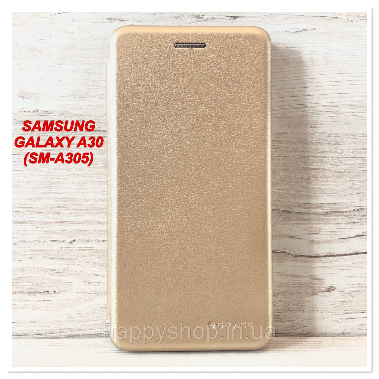 Чехол-книжка G-Case для Samsung Galaxy A30 (SM-A305) Золотой