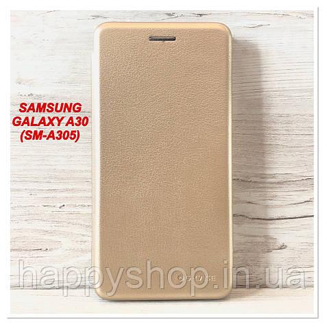 Чехол-книжка G-Case для Samsung Galaxy A30 (SM-A305) Золотой, фото 2