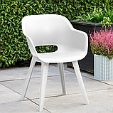 Стул садовый уличный Allibert Akola Duo Dining Chair White ( белый ), фото 2