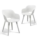 Стул садовый уличный Allibert Akola Duo Dining Chair White ( белый ), фото 3