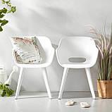 Стул садовый уличный Allibert Akola Duo Dining Chair White ( белый ), фото 4