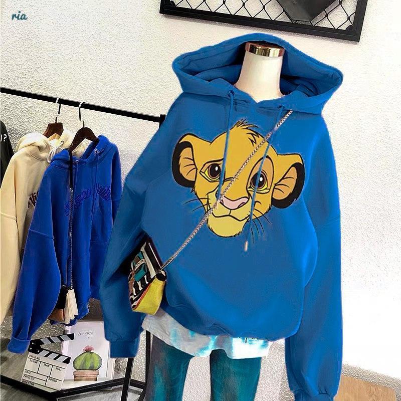 Модное худи с капюшоном с мультяшным героем SIMBA