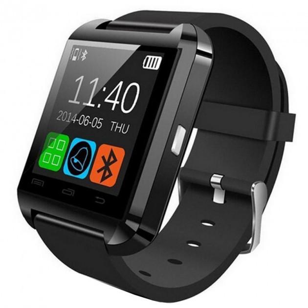 Смарт-часы UWatch U8 Black умные часы с мультимедийными функциями для Android смартфонов Bluetooth