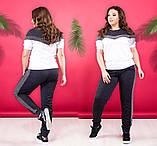 """Жіночий стильний спортивно-прогулянковий костюм 338 """"Кокетка Лампаси Люрекс"""" в кольорах, фото 3"""