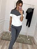 """Жіночий стильний спортивно-прогулянковий костюм 338 """"Кокетка Лампаси Люрекс"""" в кольорах, фото 5"""