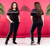 """Жіночий стильний спортивно-прогулянковий костюм 338 """"Кокетка Лампаси Люрекс"""" в кольорах, фото 7"""