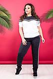 """Жіночий стильний спортивно-прогулянковий костюм 338 """"Кокетка Лампаси Люрекс"""" в кольорах, фото 8"""