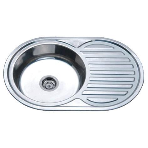 Мойка кухонная ZERIX Z7750-06-180D (decor) (ZX1595)
