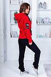 "Тёплый женский спортивный костюм на байке 2289 ""The North Face"", фото 4"