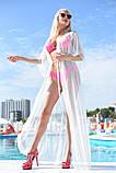 """Стильный летний шифоновый длинный сарафан с рукавом в больших размерах 9351-1 """"Сетка Макси"""" в расцветках, фото 2"""