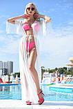 """Стильный летний шифоновый длинный сарафан с рукавом в больших размерах 9351-1 """"Сетка Макси"""" в расцветках, фото 5"""