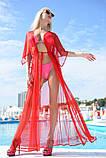 """Стильный летний шифоновый длинный сарафан с рукавом в больших размерах 9351-1 """"Сетка Макси"""" в расцветках, фото 6"""
