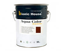 Краска для дерева Bionic-House Aqua Color UV-protect 10л Шоколад А109