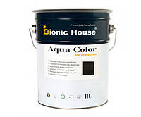 Краска для дерева Bionic-House Aqua Color UV-protect 10л Черное дерево А120