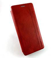 Чехол книжка противоударный боковой Gelius Leather для Xiaomi Redmi Note 8T красный
