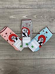 Женские носки с люрексом Montebello разный принт на правой и левой ноге 35-40 12 шт в уп микс цветов