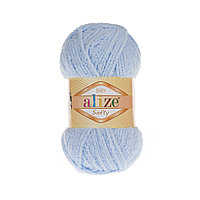 Плюшевая пряжа ализе SOFTY светло голубой 183