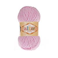 Плюшевая пряжа ализе SOFTY детский розовый 185