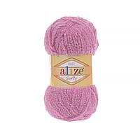 Плюшевая пряжа ализе SOFTY светло розовый 191
