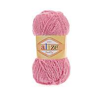 Плюшевая пряжа ализе SOFTY персикового цвета 265