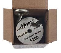 Односторонний поисковый магнит НЕПРА F200, ☑усилие на отрыв 300кг ✦ТРОС В ПОДАРОК✦