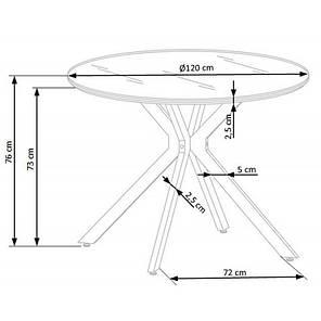 Стол обеденный Halmar Avelar | Белый / Черный, фото 2