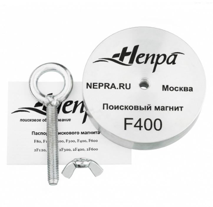 Односторонний поисковый магнит НЕПРА F400, ☑усилие на отрыв 500кг, ✦ТРОС В ПОДАРОК✦