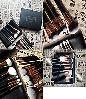 Набор кистей для макияжа DOCOLOR 15 шт + клатч
