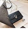 Женская сумка черная геометрия, фото 5