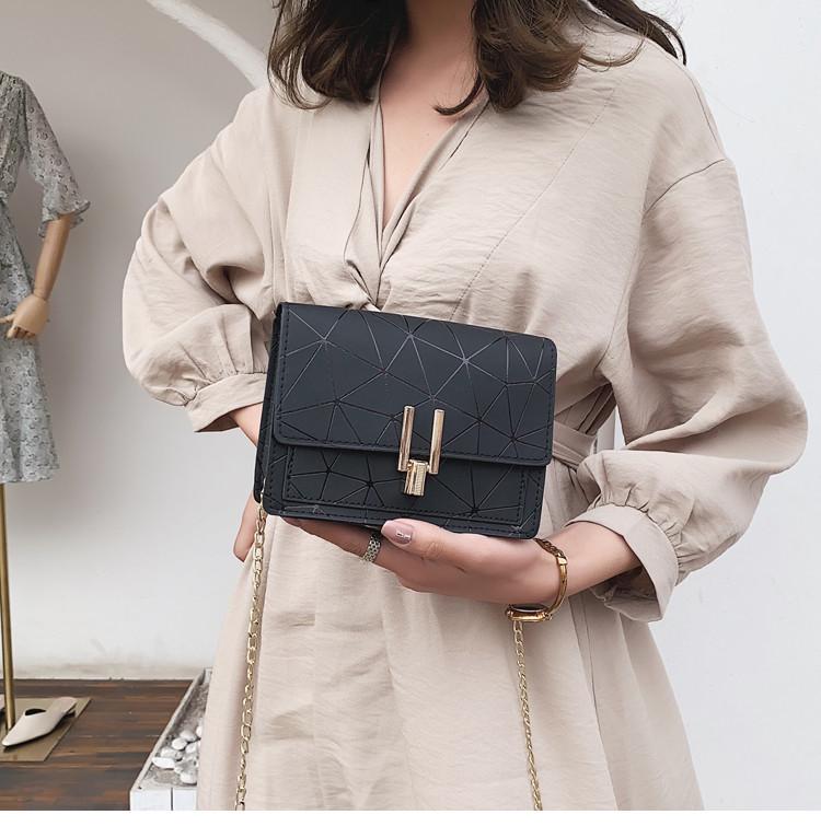 Женская сумка черная геометрия