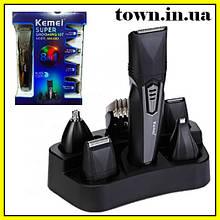 Машинка для стрижки волос Kemei KM-640 8в1 | Триммер | Бритва