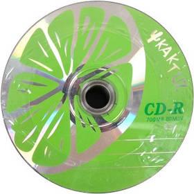 "Диски CD-R KAKTUZ 700Mb 52x Bulk 50 штук ""LIME"""