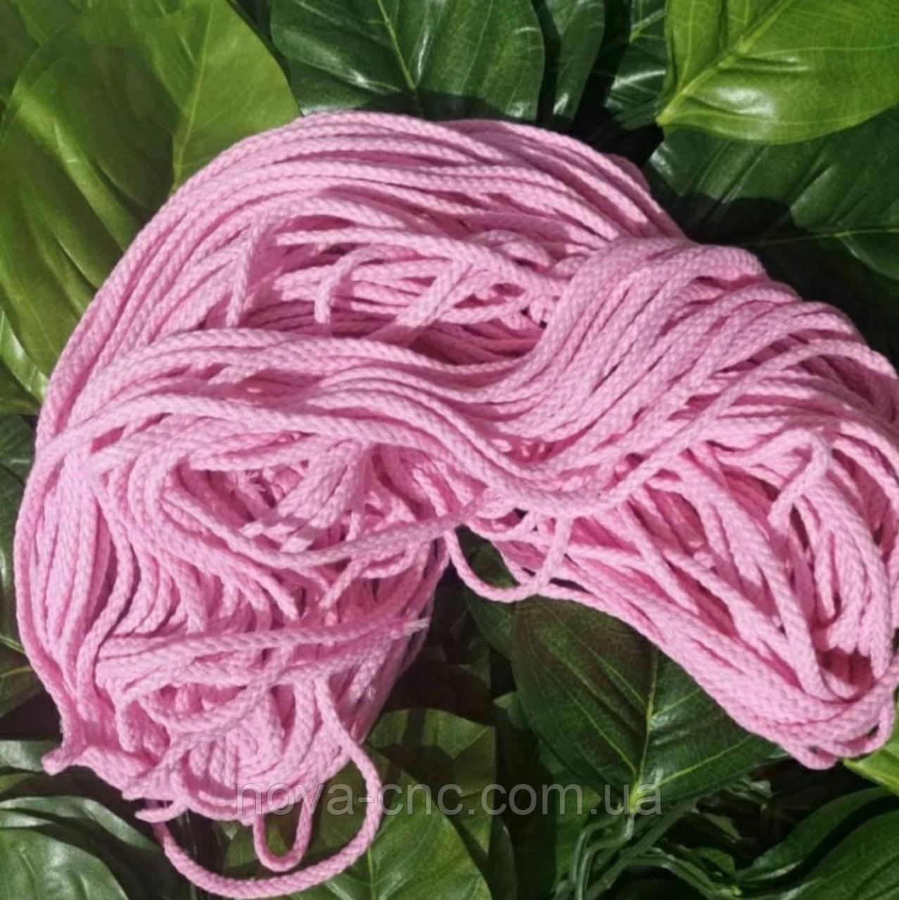Веревка декоративная розовая моток 75 м