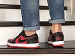 Мужские кожаные кроссовки Nike Air Jordan 1 Low (красно-черные) 9156, фото 3