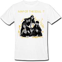 Футболка BTS Bangtan Boys - Map of the Soul: 7 (белая)