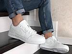 Чоловічі шкіряні кросівки Nike Air Jordan 1 Low (білі) 9157, фото 3