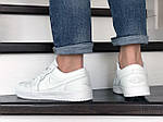 Чоловічі шкіряні кросівки Nike Air Jordan 1 Low (білі) 9157, фото 4