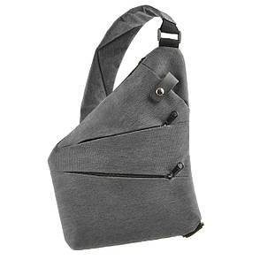 Рюкзак городской одналямка BagHouse 23х31х5 серый полиестер  ксНЛ1692сер, фото 2