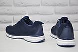 Мужские лёгкие кроссовки сетка синие Restime большие размеры:46,47, фото 3