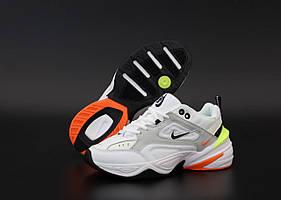 Женские кроссовки Nike M2K Tekno White Grey (Женские кроссовки Найк М2К Текно белые с серым)