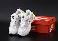 Женские кроссовки Nike M2K Tekno белые с серым (Кроссовки Найк М2К Текно)
