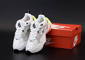 Женские кроссовки Nike M2K Tekno белые с серым