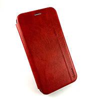 Чехол книжка противоударный боковой Gelius Leather для Xiaomi Redmi Note 8 красный