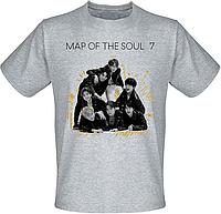Футболка BTS Bangtan Boys - Map of the Soul: 7 (серая)