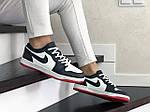 Женские кожаные кроссовки Nike Air Jordan 1 Low (темно-синий с белым) 9161, фото 3