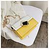 Сумка желтая с белым через плечо с ромбом, фото 2