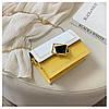 Сумка желтая с белым через плечо с ромбом, фото 8