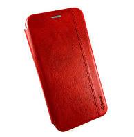 Чехол книжка противоударный боковой Gelius Leather для Xiaomi Redmi 8A красный