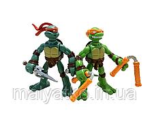 Набор мини-фигурок Рафаэль и Микеланджело - Raphael and Michelangelo, 4Kids, Playmates