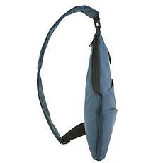 Рюкзак BagHouse городской одналямка  23х31х5 синий полиестер  ксНЛ1692син, фото 2